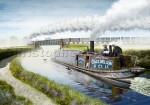 Steam narrow boat