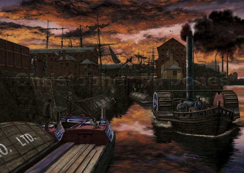 Steamer at Gloucester docks
